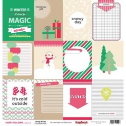 (SCB220605509b)ScrapBerry's Double-sided paper Happy Holiday Lov