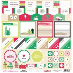 (SCB220605508b)ScrapBerry's Double-sided paper Happy Holiday Acc