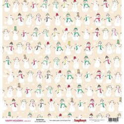 (SCB220605506)ScrapBerry's Double-sided paper Happy Holiday Snow