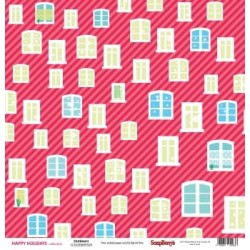 (SCB220605505)ScrapBerry's Double-sided paper Happy Holiday Outd