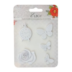 (SCB26002103)ScrapBerry's Set Of Polymer Items Elegy Butterfly