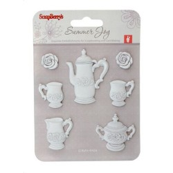 (SCB26002006)ScrapBerry's Set Polymer Items Tea Service