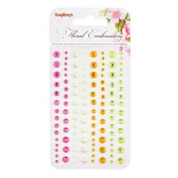 (SCB25002015)ScrapBerry's Adhesive Gems Floral Embroidery 2