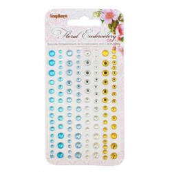 (SCB25002014)ScrapBerry's Adhesive Gems Floral Embroidery 1