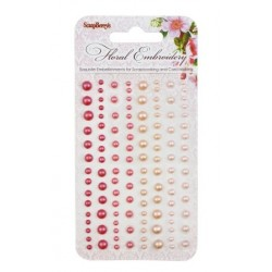 (SCB25002010)ScrapBerry's Adhesive Pearls Floral Embroidery 2