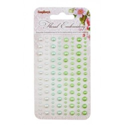 (SCB25002009)ScrapBerry's Adhesive Pearls Floral Embroidery 1