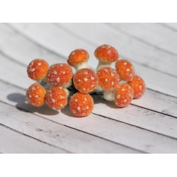 (HY0010012578)ScrapBerry's Mushroomwith Beads In The Bundle, 12