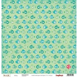 (SCB220605203)ScrapBerry's Double-sided paper Basic & Ko Sealab