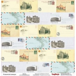 (SCB220605002)ScrapBerry's Double-sided paper Discover Italy