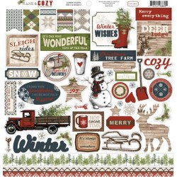 (CBWC37014)Carta Bella Warm And Cozy 12x12 Inch Element Stickers