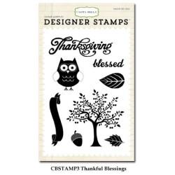 (CBStamp3)Carta Bella Clear Stamp Autumn Thankful Blessing 4x6 I