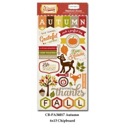 (CBPA34017)Carta Bella Perfect Autumn 6x13 Inch Chipboard