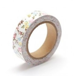 (SCB490038)ScrapBerry's Cotton Tape With Floral Print