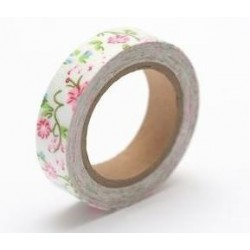 (SCB490039)ScrapBerry's Cotton Tape With Floral Print