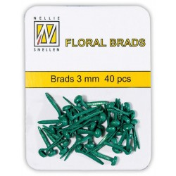 (FLP-GB007)Nellie`s Choice Glitter brads green 40 PC 3mm