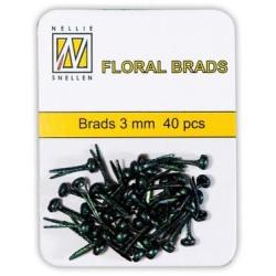 (FLP-GB001)Nellie`s Choice Glitter brads black 40 PC 3mm