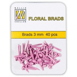 (FLP-GB003)Nellie`s Choice Glitter brads pink 40 PC 3mm