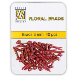 (FLP-GB006)Nellie`s Choice Glitter brads red 40 PC 3mm