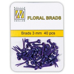 (FLP-GB008)Nellie`s Choice Glitter brads purple 40 PC 3mm