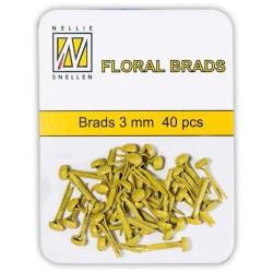 (FLP-GB009)Nellie`s Choice Glitter brads yellow 40 PC 3mm