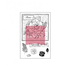 (CBS0018)Clear Stamps - Rose Collage