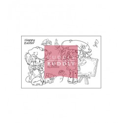(CBS0022)Clear Stamps - Little Poppets Springtime