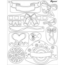 Pergamano Clear stamps ribbon bows  (41912)