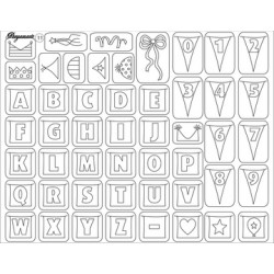 Pergamano Clear stamps party garlands (41911)