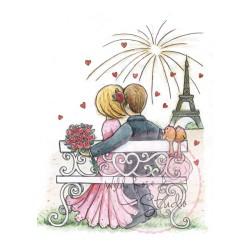 (CL364)stamp A7 set Fireworks in Paris