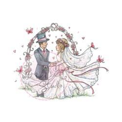(CL365)stamp A7 set Wedding Arch