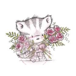 (CL369)stamp A7 set Elsie with Roses