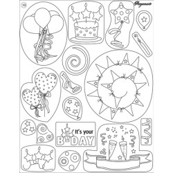 Pergamano Clear stamps birthday (41910)