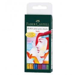 (FC-167103)Faber Castell PITT big brush Basic 6x