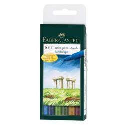 (FC-167105)Faber Castell PITT big brush Landscape 6x