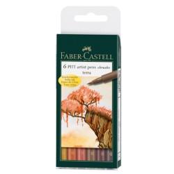 (FC-167106)Faber Castell PITT big brush Terra 6x