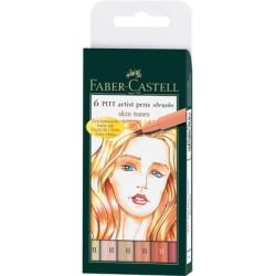 (FC-167162)Faber Castell PITT big brush Skine tone 6x