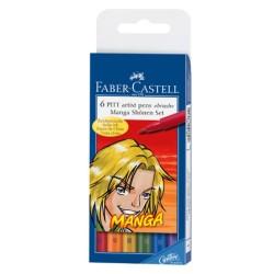 (FC-167131)Faber Castell PITT big brush Manga Shônen 6x