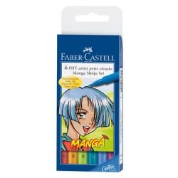 (FC-167130)Faber Castell PITT big brush Manga Shojo 6x