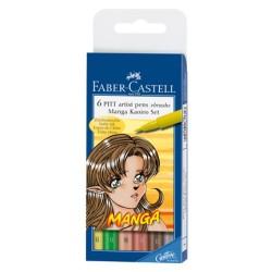 (FC-167134)Faber Castell PITT big brush Manga Kaoiro 6x