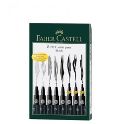 (FC-167137)Faber Castell PITT artist pen black box of 8