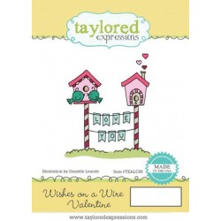 (TEALC99)Taylored Expressions Wishes On A Wire Valentine