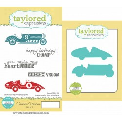 (TEPS153)Taylored Expressions Vroom Vroom Stamp & Die Combo