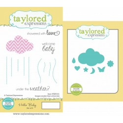 (TEPS151)Taylored Expressions Hello Baby Stamp & Die Combo