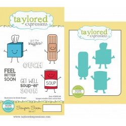 (TEPS148)Taylored Expressions Souper Soon Stamp & Die Combo