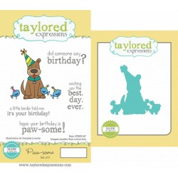 (TEPS147)Taylored Expressions Paw-some Stamp & Die Combo