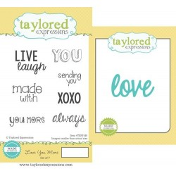 (TEPS140)Taylored Expressions Love You More Stamp & Die Combo