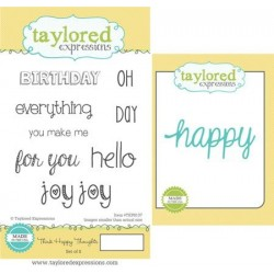 (TEPS137)Taylored Expressions Think Happy Thoughts Stamp & Die C
