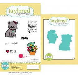 (TEPS125)Taylored Expressions Graysie Stamp & Die Combo