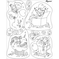Pergamano Clear stamps birthday girl (41914)