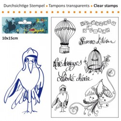 (3609-001)Clear stamp 10x15cm battement d'aile